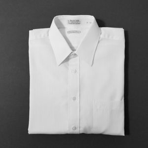 Christian Dior white on white stripe dress shirt